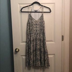 Express snake skin print dress